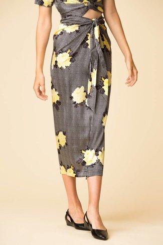 Ganni Ganni Calla Silk Skirt