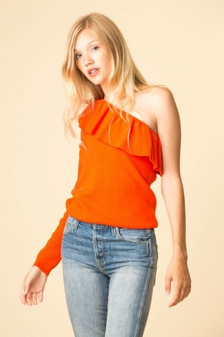 Ganni Ganni Poppy Knit One - Shoulder Blouse