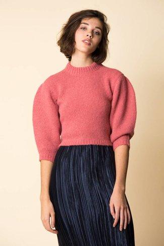 Tibi Tibi Cozette Cropped Pullover
