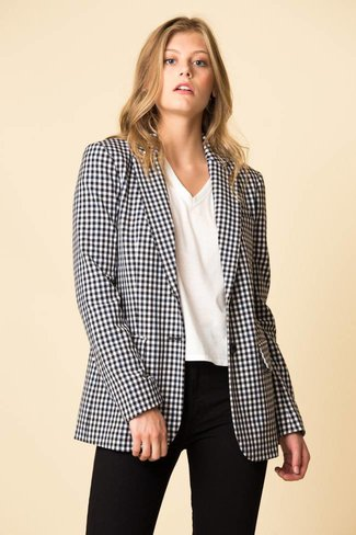 Tibi Tibi Gingham Suiting Mens Blazer