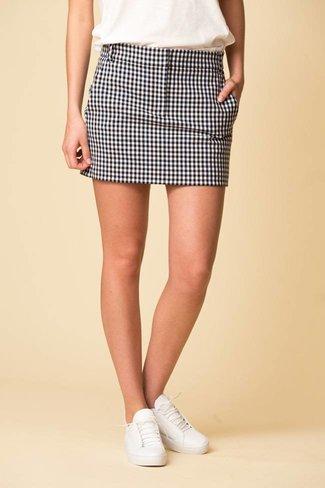 Tibi Tibi Gingham Suiting Mini Trouser Skirt