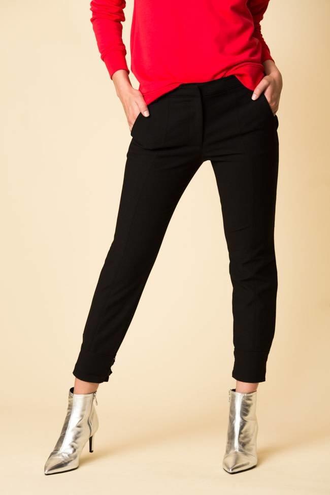 Tibi Tibi Anson Stretch Skinny Pant with Buckles