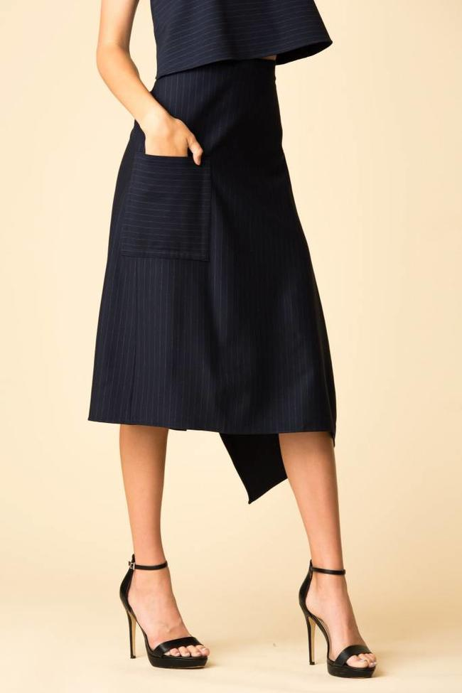 Tibi Pinstripe Knit Origami The Fold