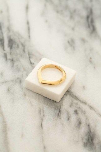 Miansai Miansai Angular Ring - Gold Plated