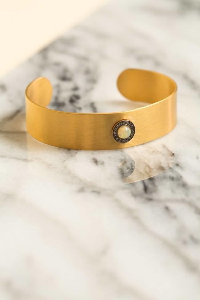 Ileana Makri Ileana Makri Galaxy Sun Cuff - Gold Plated w/ Oxidation