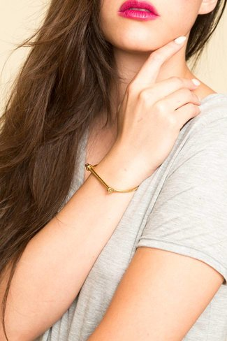 Miansai Miansai Thin Screw Cuff - Gold Plated, Polished