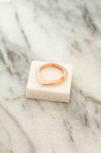 Miansai Miansai Angular Ring - Rose Gold Plated
