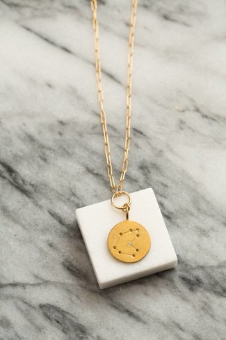Thatch Thatch Circle Disk Constellation Necklace