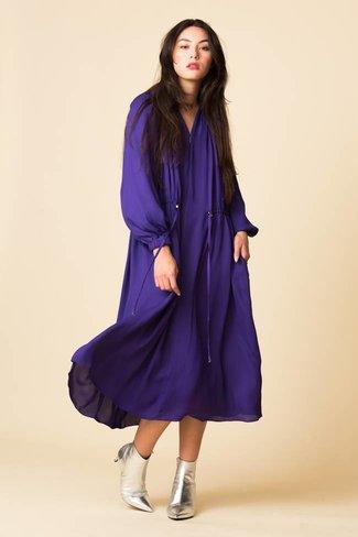 Tibi Tibi Viscose Georgette Midi Drawstring Dress