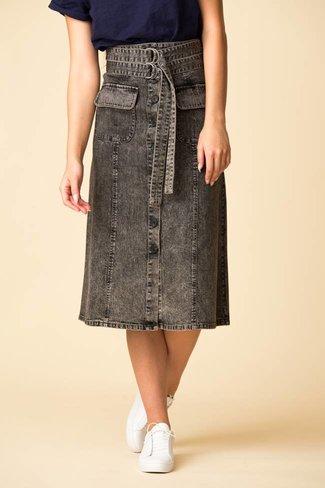 SEA SEA Noir Denim A-Line Skirt