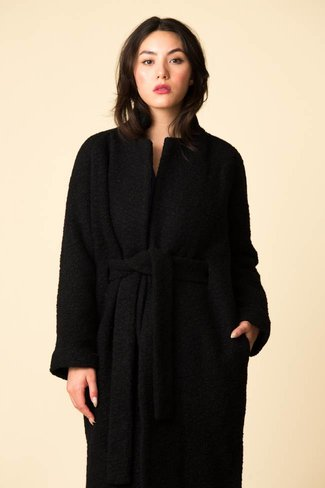 Ganni Ganni Long Wrap Coat