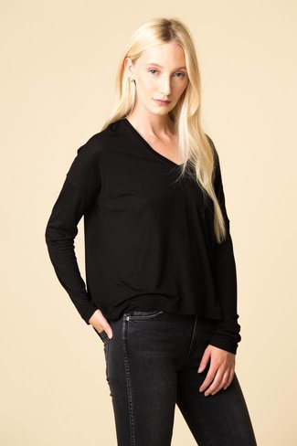 Vince Vince Drop Shoulder V-Neck