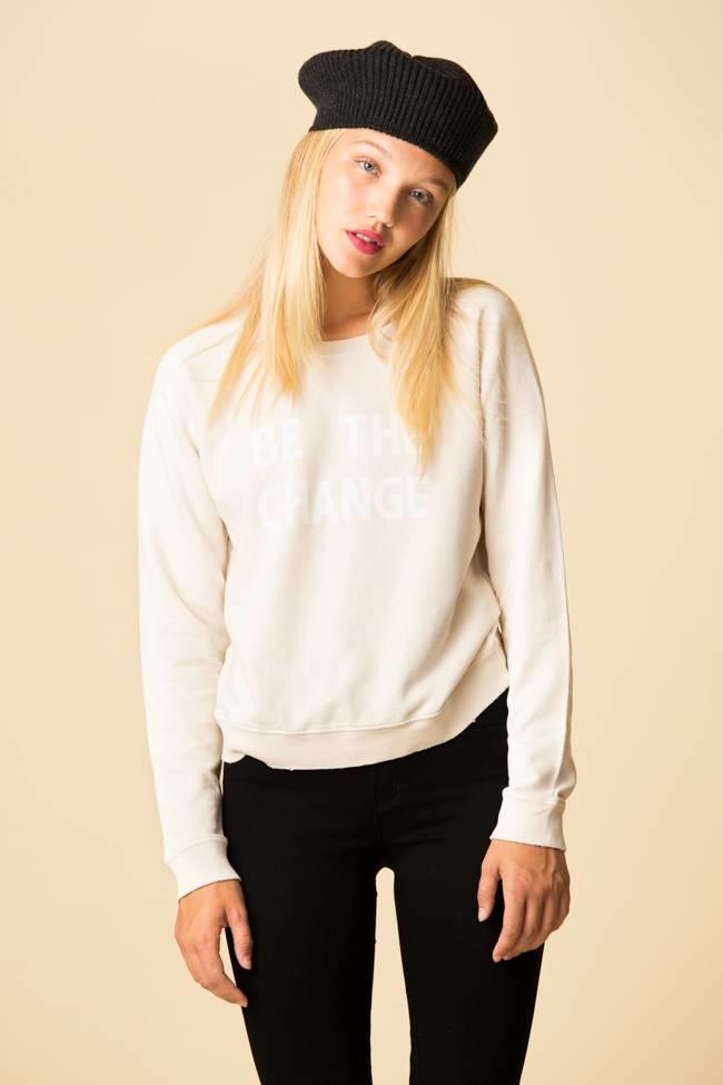 AMO Amo Raglan Sweatshirt - Be The Change