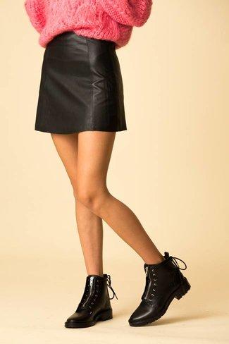 VEDA VEDA Leather Circle Skirt