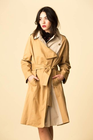 Mijeong Park Mijeong Park Bi-Color Trench Coat