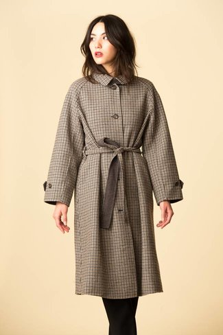 Mijeong Park Mijeong Park Single Breasted Wool Plaid Coat