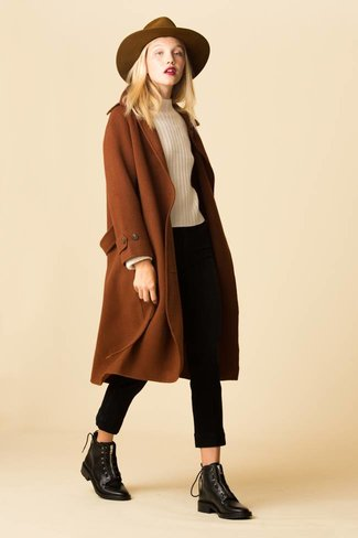 Mijeong Park Mijeong Park Single Breasted Wool Blend Coat