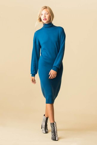 Tibi Tibi Merino Wool Sweater Tie Back Dress