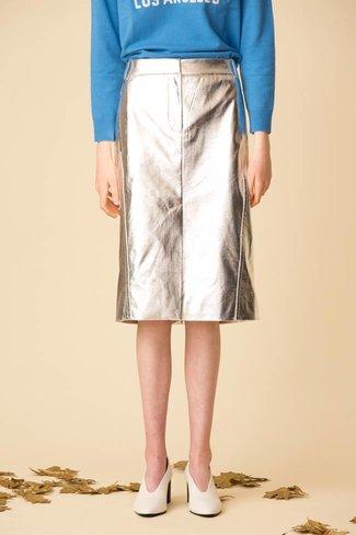 Tibi Tibi Tech Leather Trouser Skirt