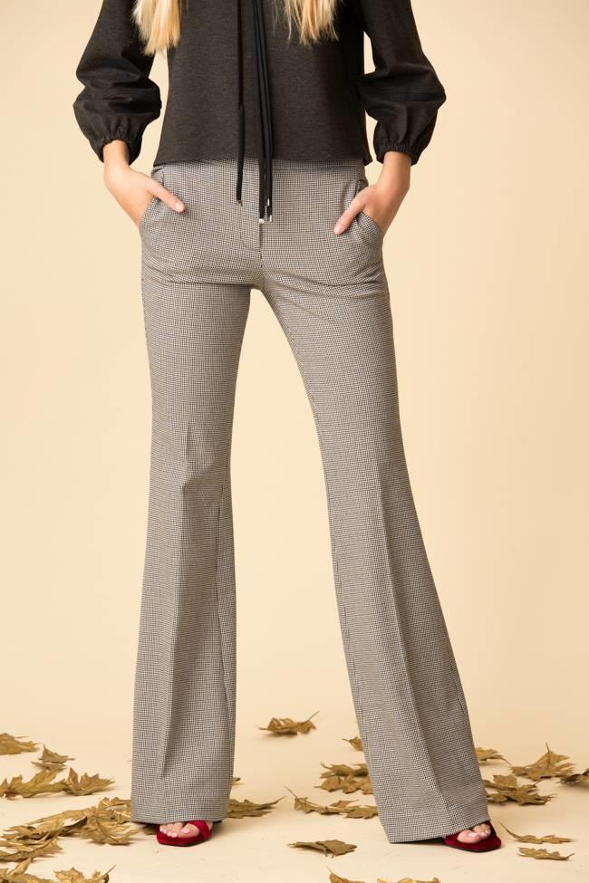 Tibi Tibi Hudson Check Slim Bootcut Pant