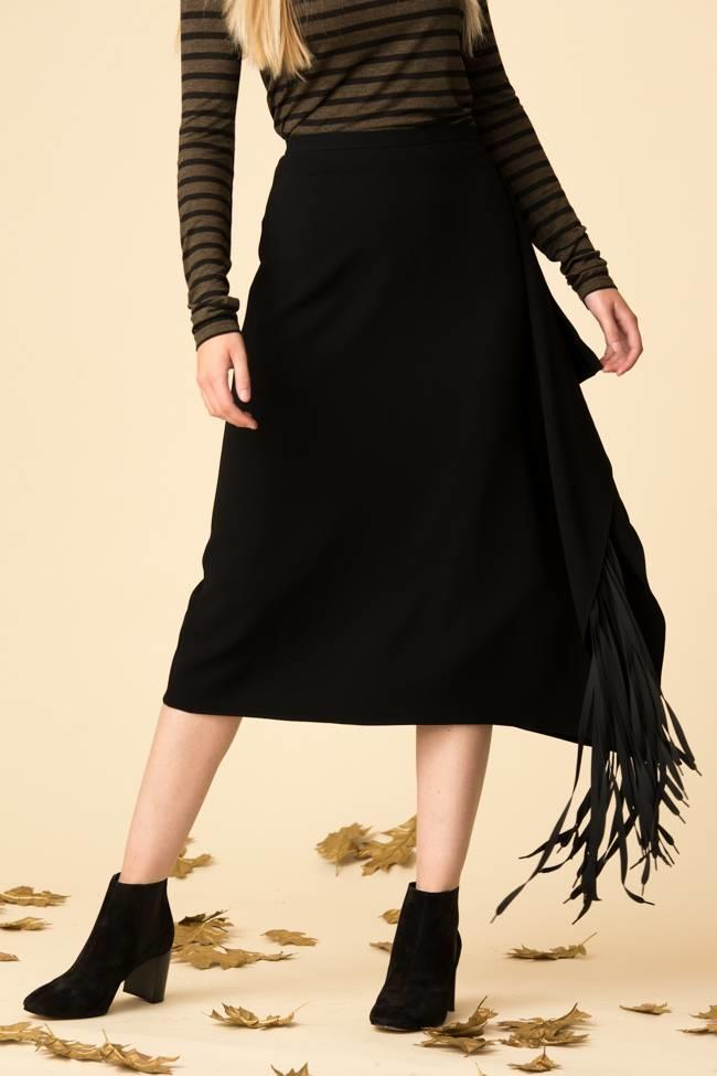 Tibi Tibi Triacetate Fringe Skirt