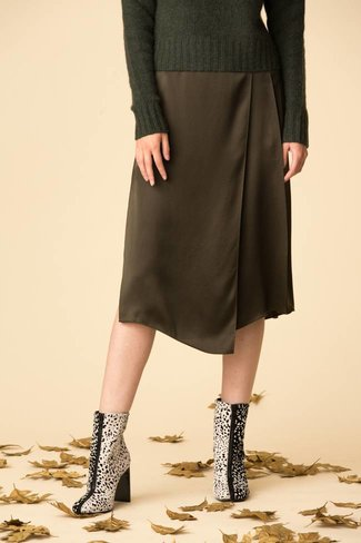 Vince Vince Drape Panel Skirt - Dark Loral