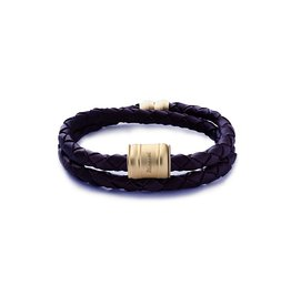 MIANSAI MIANSAI / Leather Casing Bracelet Matte Gold