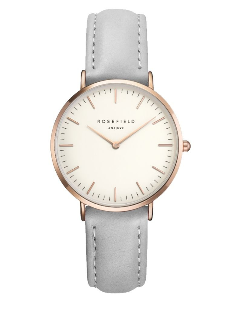 ROSEFIELD ROSEFIELD / The Tribeca Leather (White/Grey/Rosegold)