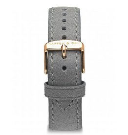 KAPTEN & SON KAPTEN & SON / Campina Leather Strap  (Grey Vintage/Rose Gold, 18MM)