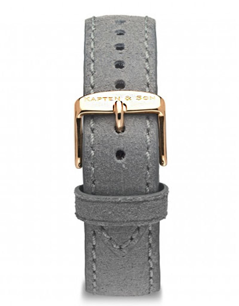KAPTEN & SON KAPTEN & SON / Campina Leather Strap  (Grey VintagexRose Gold)