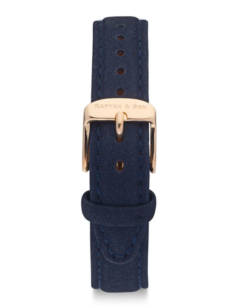 KAPTEN & SON KAPTEN & SON / Joy Leather Strap (Night Blue VelvetxRose Gold)