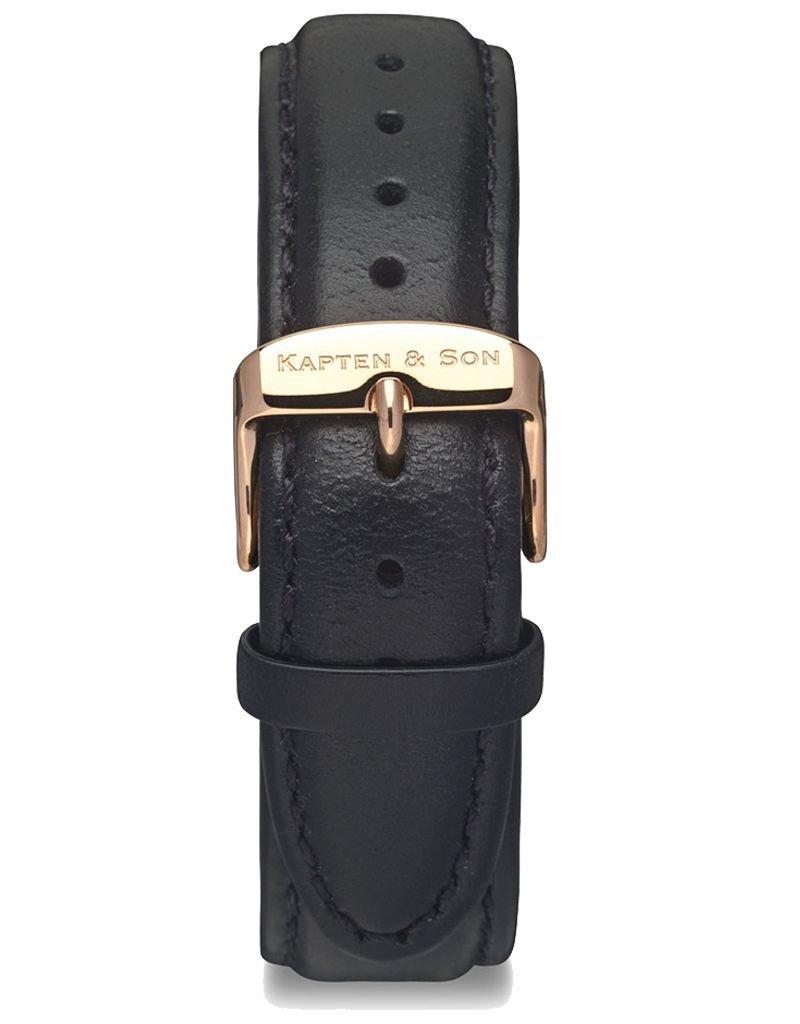 KAPTEN & SON KAPTEN & SON / Campus Leather Strap (BlackxRose Gold)