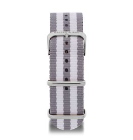 KAPTEN & SON KAPTEN & SON / Campus Nylon Strap (SpacexSilver)