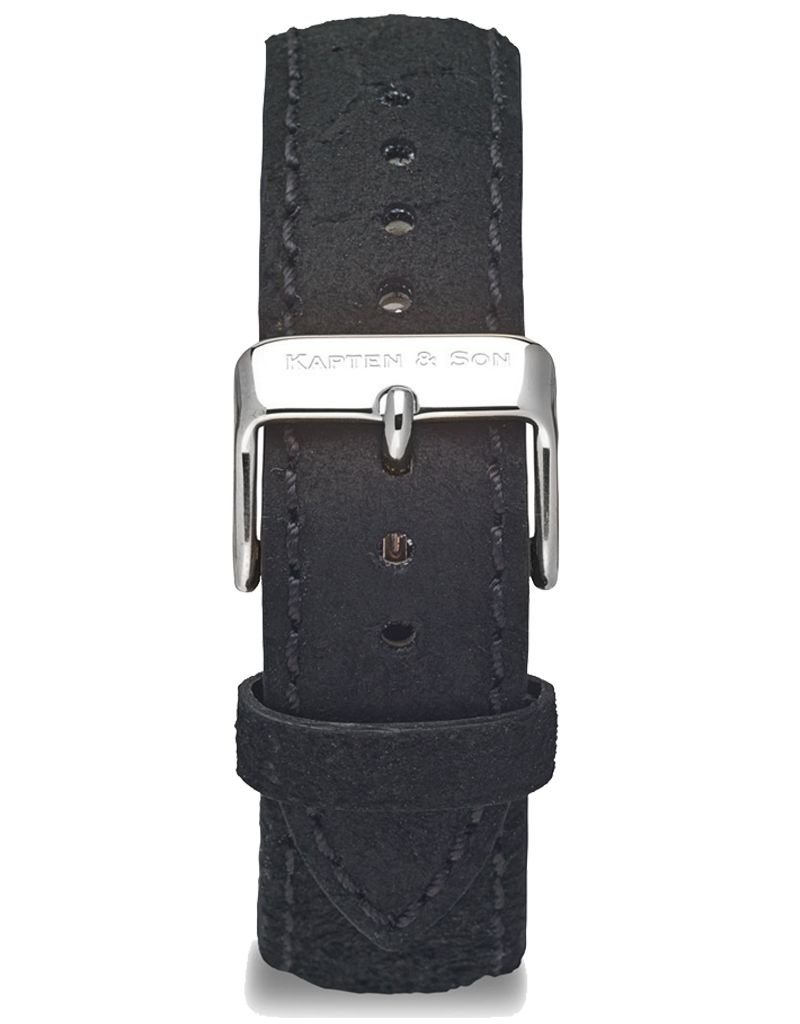 KAPTEN & SON KAPTEN & SON / Campus Leather Strap (Black VintagexSilver)