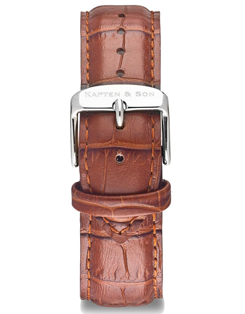 KAPTEN & SON KAPTEN & SON / Campus Leather Strap (Brown CrocoxSilver)