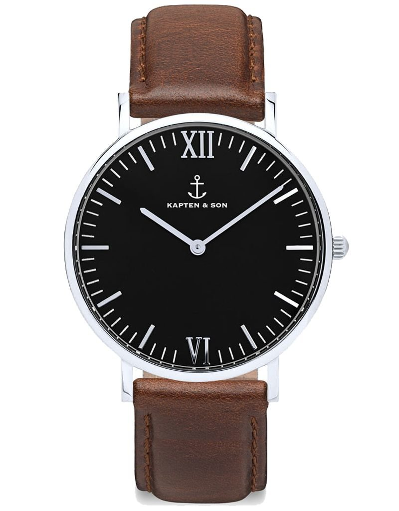KAPTEN & SON KAPTEN & SON / Campina Brown Leather (Black Dial)