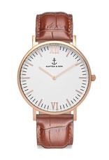 KAPTEN & SON KAPTEN & SON / Campina Leather Brown Croco White Dial