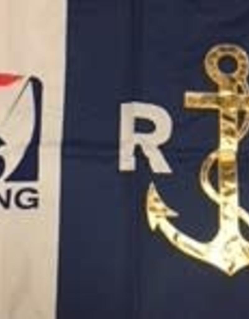 Race Officer Golden Anchor Flag for Certified Race Officers