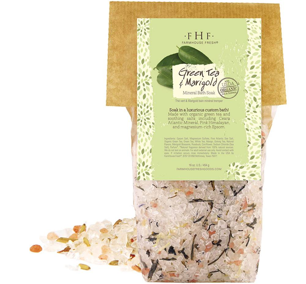 Green Tea & Marigold Mineral Bath Soak