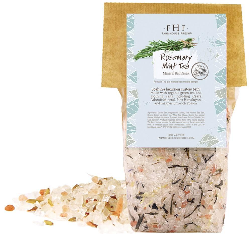 Rosemary-Mint Tea Mineral Bath Soak