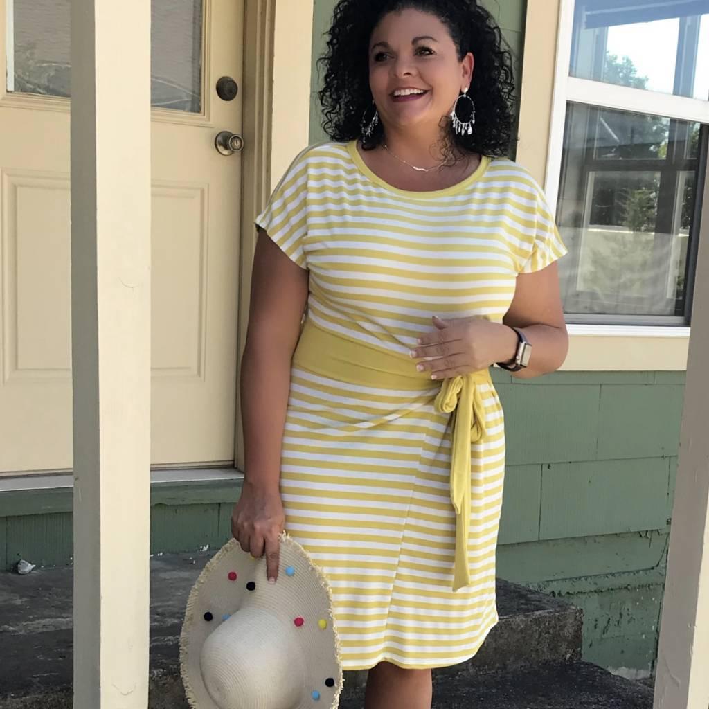 Terry Striped Dress
