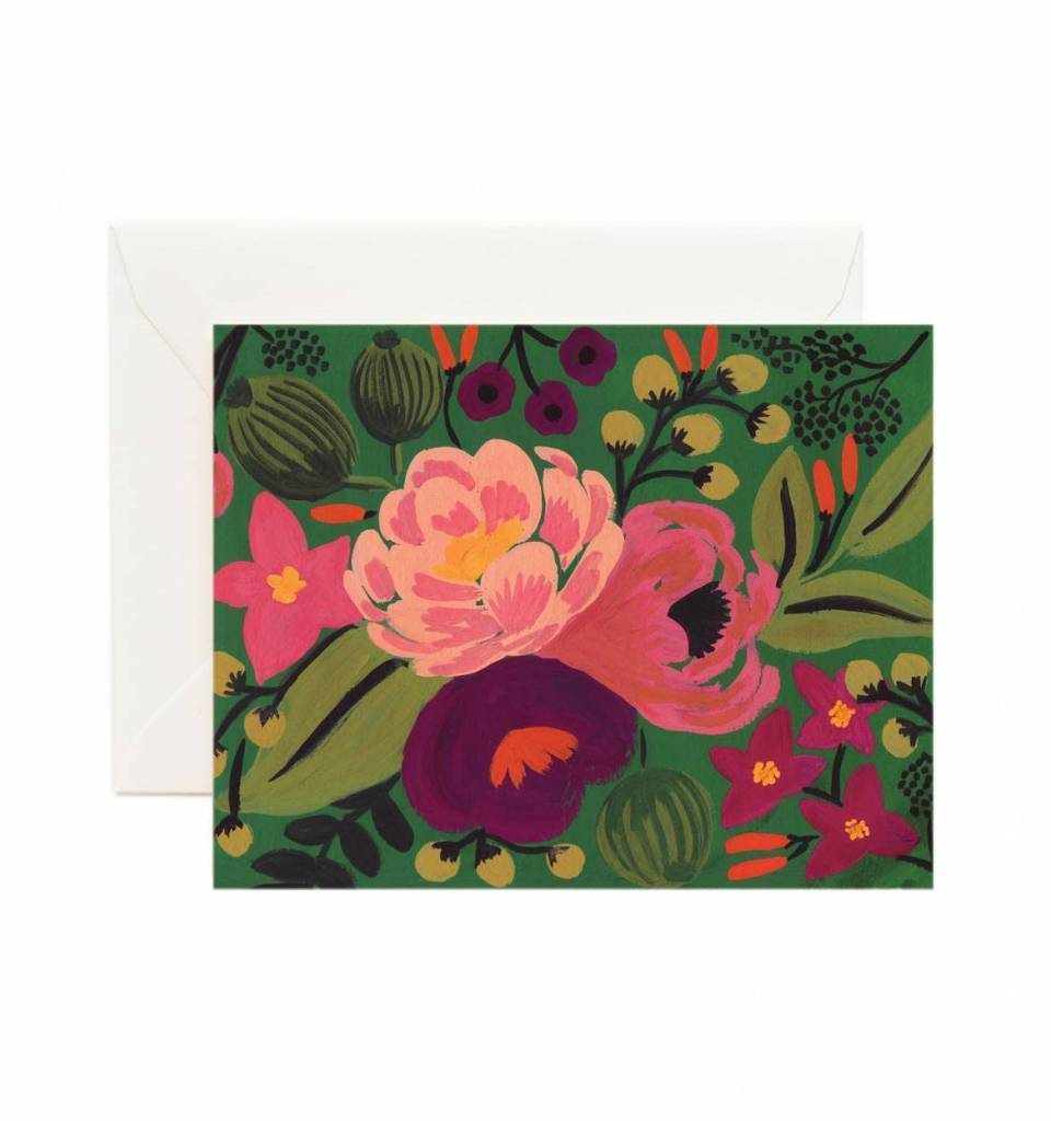 Vintage Blossoms Green Card