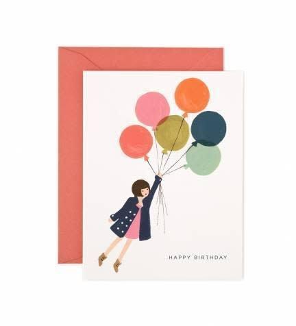 Fly Away Birthday Card