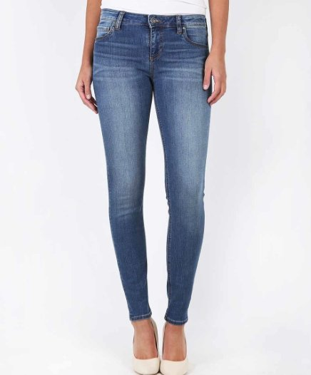 Mia Toothpick Skinny, Medium Wash