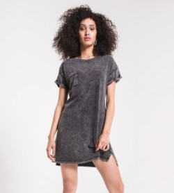 THE WASHED COTTON T-SHIRT DRESS