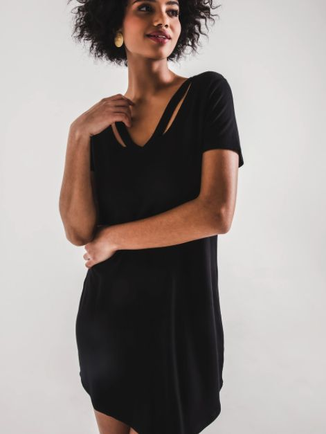 THE CUTOUT V-NECK DRESS