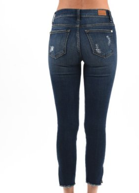 Cropped Skinny with Side Slit