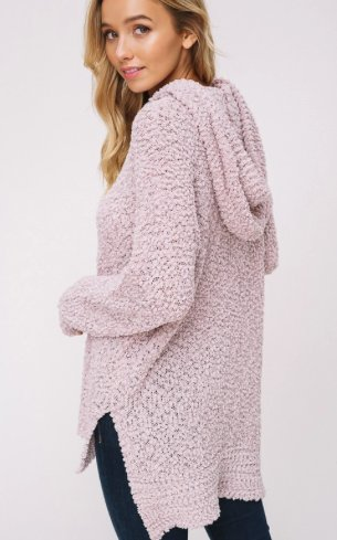 Cuddled in Blush Hoodie