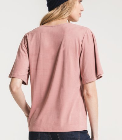 The Suede Flutter Tee