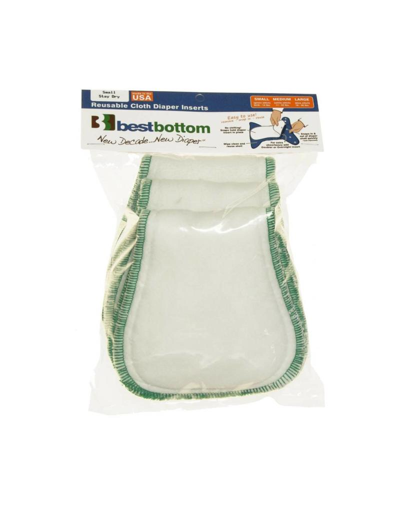 Planet Wise Best Bottom Stay Dry Bamboo Insert 3 Pack